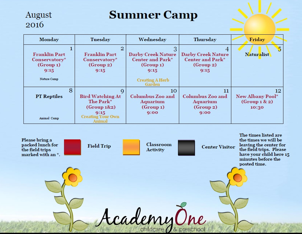 Summer Camp | AcademyOne Childcare & Preschool